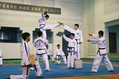 Taekwondo performed in Pyongyang, DPRK
