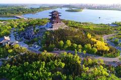 Scenery of South Lake Park in north China's Hebei