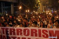 People attend protest rally in Manila