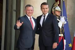 French president welcomes Jordanian king in Paris