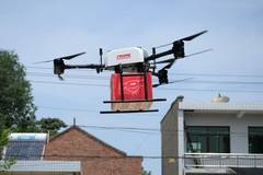 Delivering goods to customers through drones normalized by JD.com