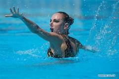 Russia's Kolesnichenko wins gold at synchronized swimming solo free event