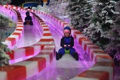 Citizens of C China's Zhengzhou go to ice park for coolness in canicular days