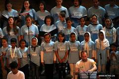 Europe Youth Orchestra performs with children refugees in Greece