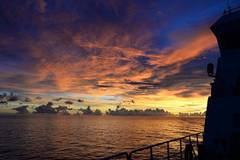 Sunset scenery seen from Chinese research vessel