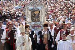 Believers attend mass on occasion of Assumption of Mary in Croatia