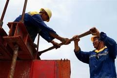 Henan section of Zhengzhou-Wanzhou highspeed railway under construction