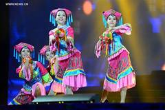 Actors perform in 19th Nanning international folk song art festival