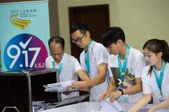 Staff members collect votes in Macao SAR