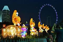 Mid-Autumn festival lights shine at Singapore's Gardens by the Bay