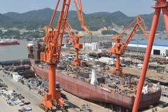 Construction of hull of deep ocean mining vessel completed in Fujian
