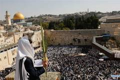 Jewish worshippers attend annual Priestly Blessing in Jerusalem