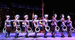 Performance portraying life of Miao ethnic group staged in China's Guangxi