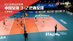 China outlasted Brazil 3-2 to snap its four-match losing streak