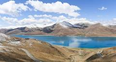 Scenery of Yamzbog Yumco Lake in China's Tibet