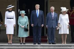 Protests, pomp as U.S. president in UK for state visit