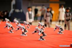 Robotics competition for middle, primary school students held in E China
