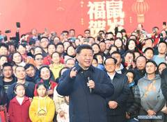 Xi inspects Spring Festival shopping fair in Kunming