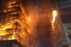 Brazil S?o Paulo building collapses in huge blaze