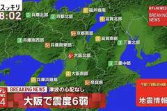 6.1-magnitude quake rocks Japan' Osaka