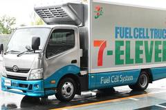 Toyota Motor Corp's hydrogen fuel cell truck for pilot project with Seven-Eleven seen in Tokyo
