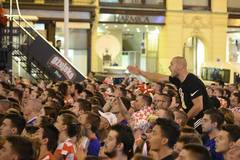 Fans of Croatia watch World Cup group D match in Zagreb