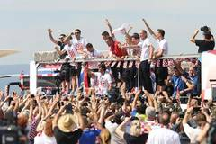 Croatian national football team back to Zagreb