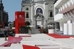 Preparation in process for 75th Venice Int'l Film Festival in Venice Lido, Italy