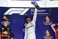 Lewis Hamilton claims 2018 Singapore Formula One Grand Prix title