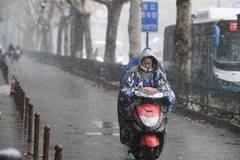 Snowfall hits China's cities