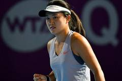 Zhu Lin beats Alison Riske 2-0 during final qualifications round in 2019 WTA Qatar Open