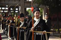 People commemorate ancient China's philosopher Mencius and Mencius' mother in Shandong
