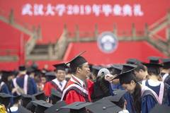 Graduates attend 2019 commencement ceremony of Wuhan University