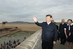Xi visits Jiayu Pass in Gansu