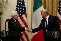 Trump and visiting Italian president attend joint press conference at White House