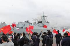 Farewell ceremony held for Chinese naval destroyer in Tokyo