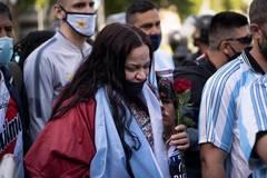 Tears and applause as fans bid farewell to Maradona