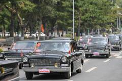 China iconic brand Hongqi's classic cars displayed in Jilin