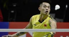 Lin Dan of team China competes during BWF Thomas Cup 2018