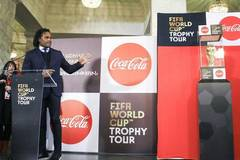 FIFA World Cup trophy arrives in Yerevan, Armenia