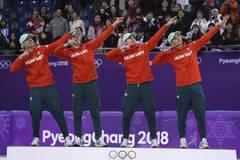 Hungary wins men's 5000m short track speed skating relay gold at PyeongChang Games
