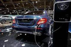 Electric cars displayed at 96th European Motor Show in Brussels