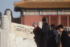 British PM Theresa May visits Palace Museum in Beijing