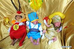 In pics: newborn babies dressed in traditional Chinese clothes in Bangkok