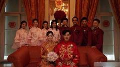 组图:唐嫣罗晋婚礼现场图曝光 红衣喜庆甜笑开心