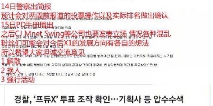 网曝14日警方将公布《PRODUCE X 101》真实排名