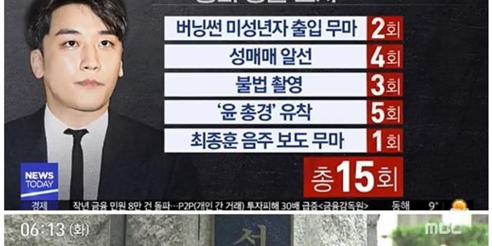 韓國警方已確定本周申請拘捕勝利 已傳喚調查15次