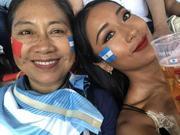 组图:吉克隽逸带母亲现场看世界杯 原来妈妈才是疯狂球迷