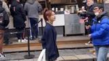 陳妍希零下氣溫光腿錄節目