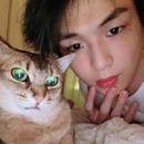 姜丹尼爾曬與寵物貓合影 表情神同步呆萌可愛